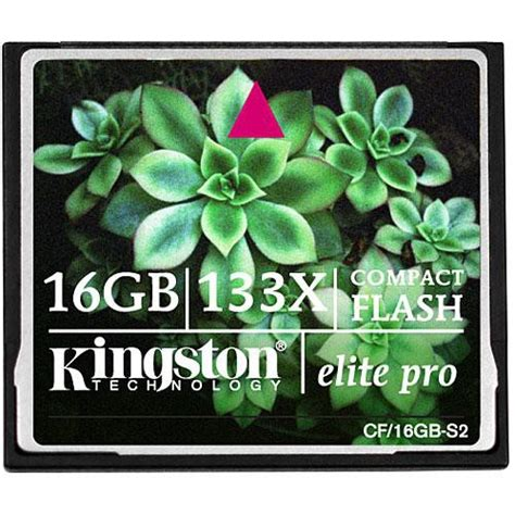Memory Cf Compact Flash Pro 16 Gb Speed 160 Mbps kingston 16gb compactflash elite pro memory card cf 16gb