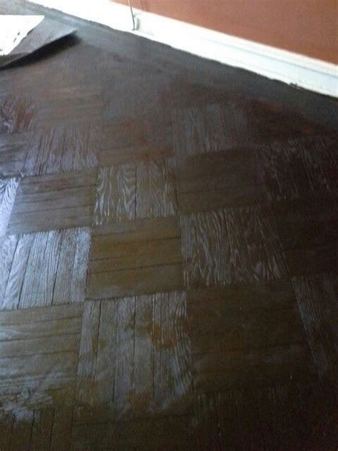 Parquet Floors Stained by Minwax Espresso Stain On Parquet Floor Homework