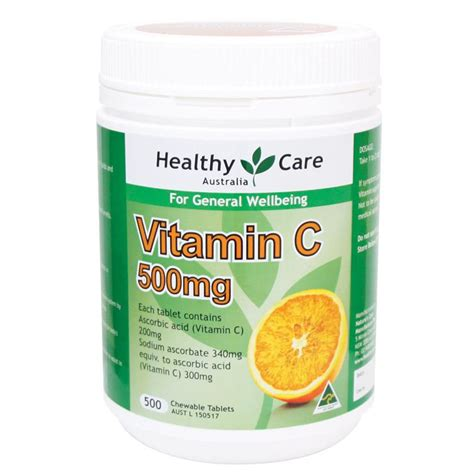 vit c tablet buy healthy care vitamin c 500mg chewable 500 tablets