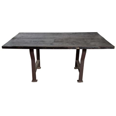 industrial work table large industrial work table at 1stdibs
