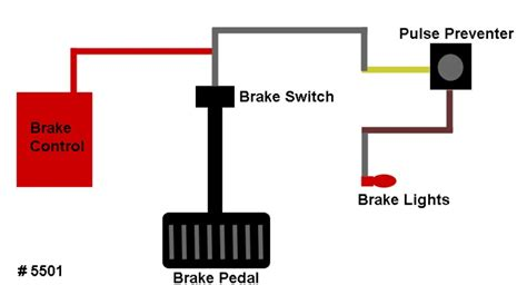 how to wire in an electric trailer brake controller pulse