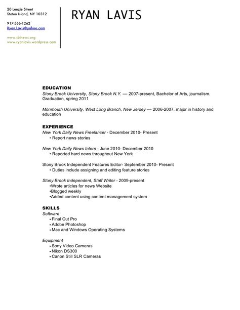 Resume Contact Information by R 233 Sum 233 Contact Info Lavis