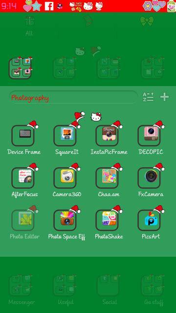 c launcher themes hello kitty pretty droid themes hello kitty christmas go launcher theme