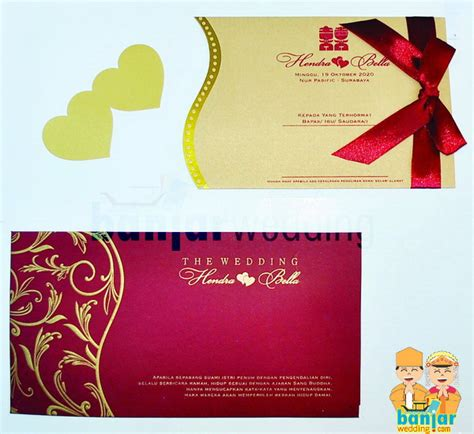 Undangan Soft Cover 2 undangan pernikahan mewah ebm 007 banjar wedding banjar wedding