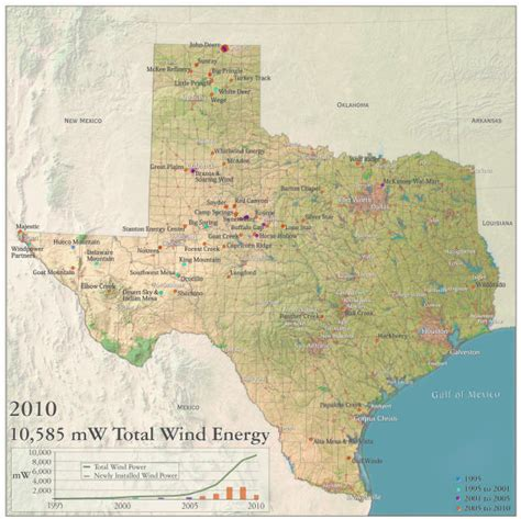 texas wind farm map maps wind