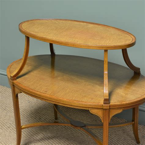 Edwards Furniture by Superb Quality Edwards Satinwood Two Tier