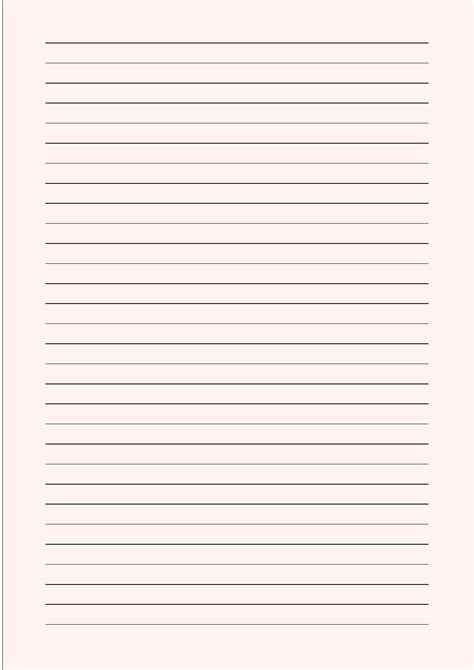 writing paper sizes a4 size lined paper with wide black lines pale free