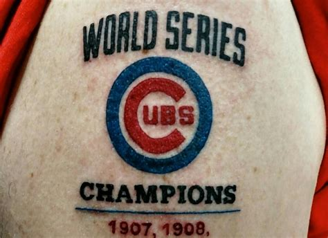 world series tattoo fan gets risky cubs world series