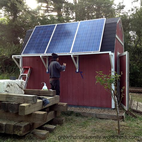 Solar Panels For Cabin by Solar Panels On Grid Cabin Growth Serenity Orchard Garden Patch