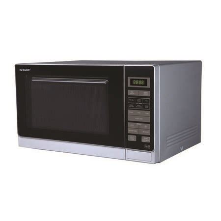 Microwave Sharp 25 L sharp r372slm 25l 900w freestanding microwave in silver appliances direct