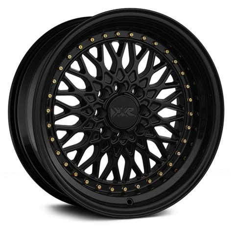 Lighting Experts by Xxr 174 536 Wheels Black With Gold Rivets Rims