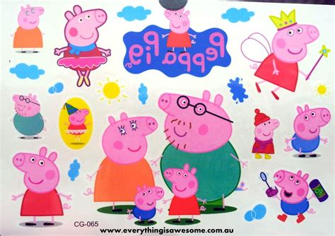 everything is awesome new peppa pig temporary tattoo