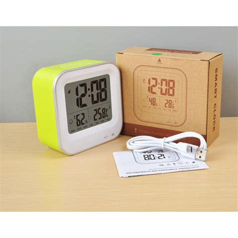 Thermometer And Hygrometer With Clock Alarm Jp9906 Jam Meja jam digital alarm thermometer dan hygrometer jp9909