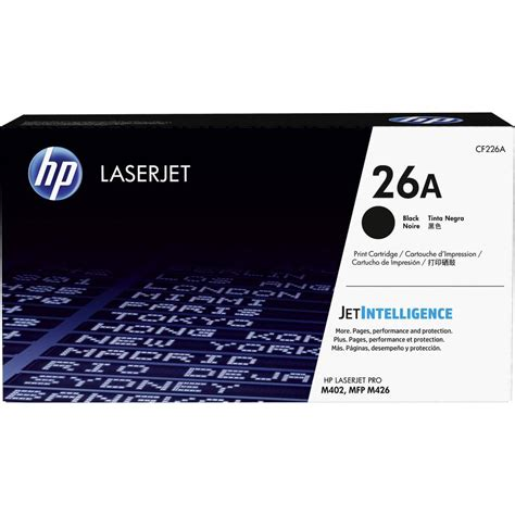 Toner Hp Laserjet Cf226a Black Original hp toner cartridge 26a cf226a original black 3100 pages from conrad