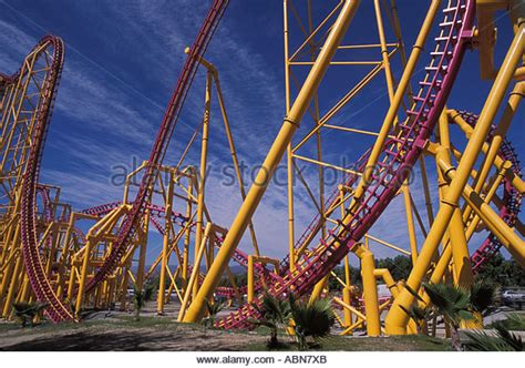 Magic L Ca by Rollercoaster Six Flags Magic Mountain Stock Photos