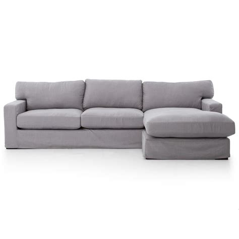 grey linen sofa elle modern classic pewter grey linen sectional sofa