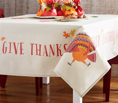 Thanksgiving Table Linens by Thanksgiving Tablecloth Pottery Barn