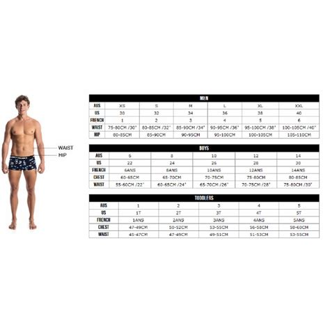 Size Chart Sac Competition Swimwear size guides rival adrenalin arena blueseventy turbo