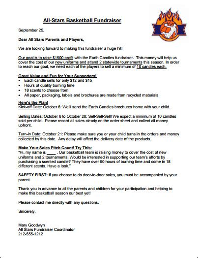 fund raising letters fundraising letter sle and setting fundraising goals