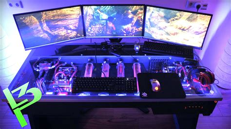 Liquid Cooled Desk by Epic Liquid Cooled Pc In A Desk