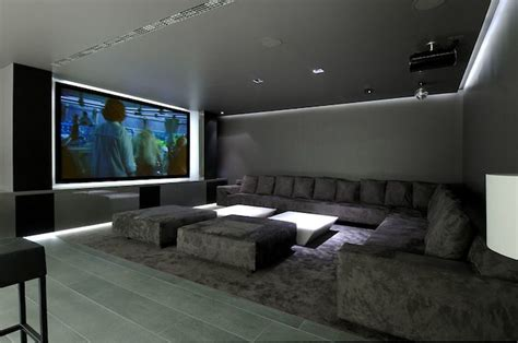 simple elegant  affordable home cinema room ideas