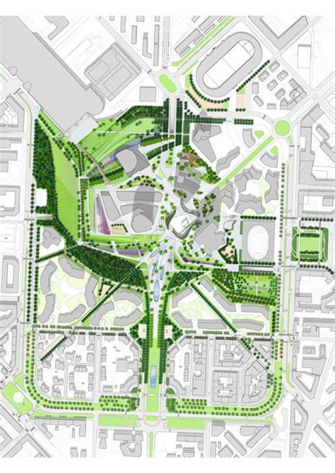 Townhouse Floor Plans Designs gustafson porter wins citylife park international design
