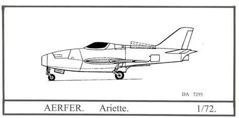 Home Planes Aerfer Ariete Model Kit By Dujin