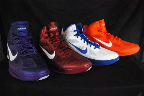 purple and orange basketball shoes nike mens hyperfuse basketball shoes nwob orange