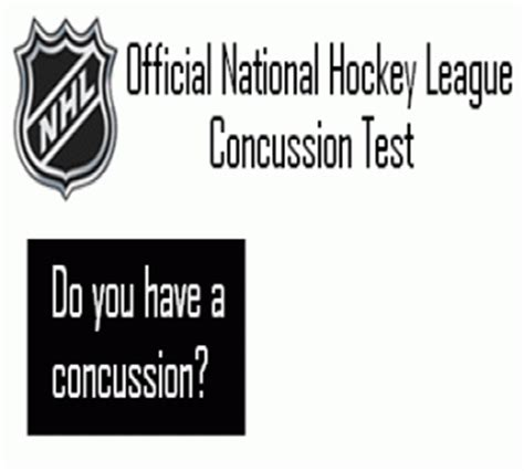 every facet of the official nhl concussion test