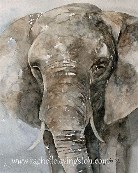 25 best ideas about paintings of elephants on