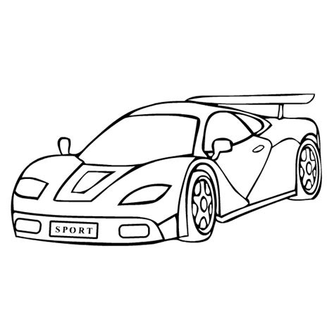 Coloring Pages Sports Cars Sports Car Coloring Page