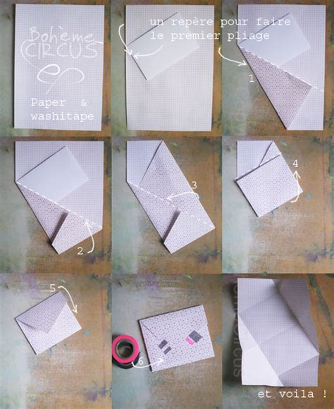 How To Fold A Paper Into A Envelope - paper washitape diy boh 232 me circus