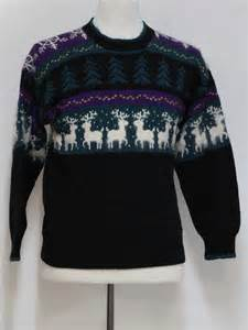 1980 s ugly christmas vintage traditional reindeer sweater 80s authentic vintage lettys