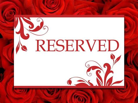 Reserved Seating Card Template Ceremony by Best 25 Reserved Seating Ideas On Wedding