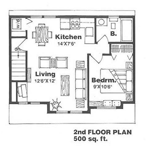 500 sq ft studio floor plans 500 square foot apartment 1thumb 500 sq ft apartment