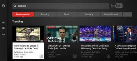 now tv layout youtube android tv app is just a web wrapper now