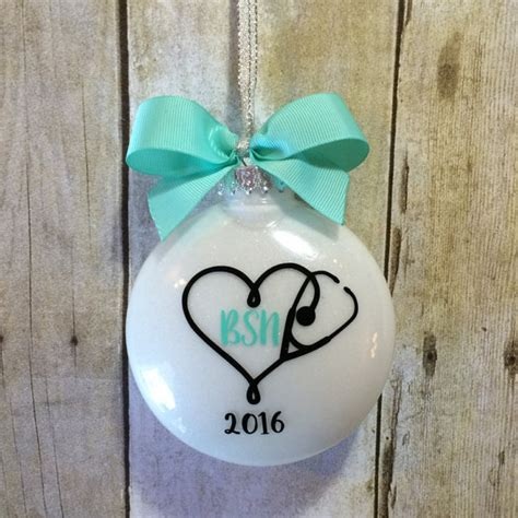nursing ornaments bsn gift for ornament nursing by peartreepersonal