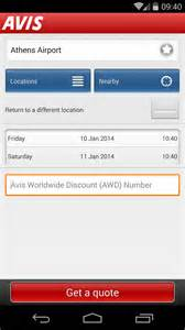 Avis Car Rental Android App Avis Android Apps On Play
