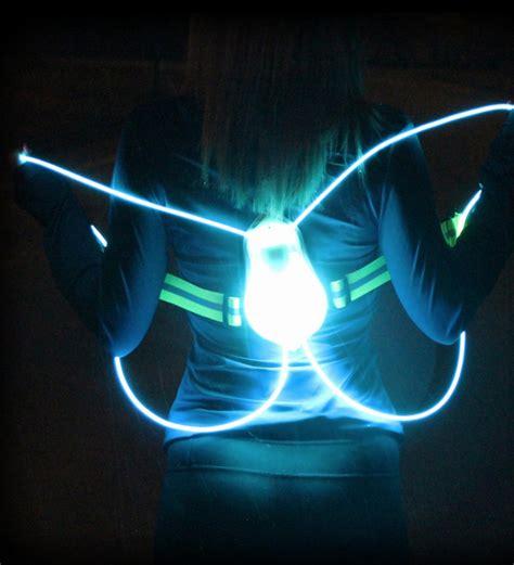 night running lights for joggers fiber optic safety vest makes night running safer