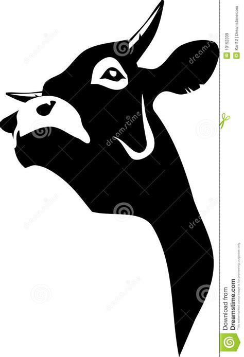 imagenes de vacas a blanco y negro vaca ilustraci 243 n del vector imagen de s 237 mbolo