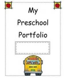 preschool portfolio on