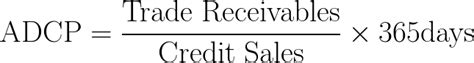 Credit Period Debtors Formula Average Debtor Collection Period Adcp