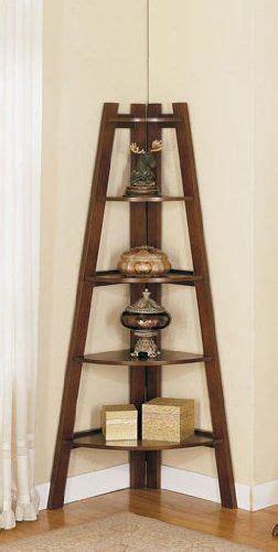 wood corner shelf rack cherry brown finish corner