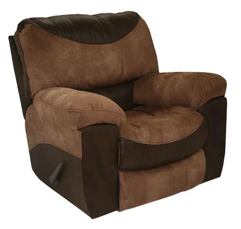 brown recliner portman two tone brown tan reclining arm chair casual