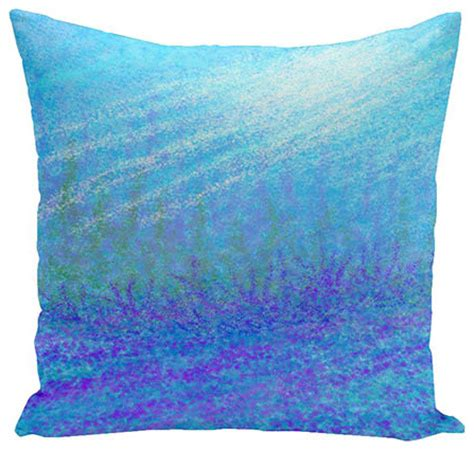 turquoise bed pillows seahorse turquoise and purple 18 inch cotton decorative