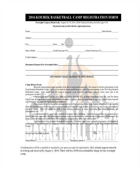 51 Printable Registration Forms Basketball C Registration Form Template