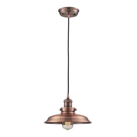 Copper Mini Pendant Lights 1 Light Antique Copper Mini Pendant With Vintage Bulb Included Tnp13055 The Home Depot