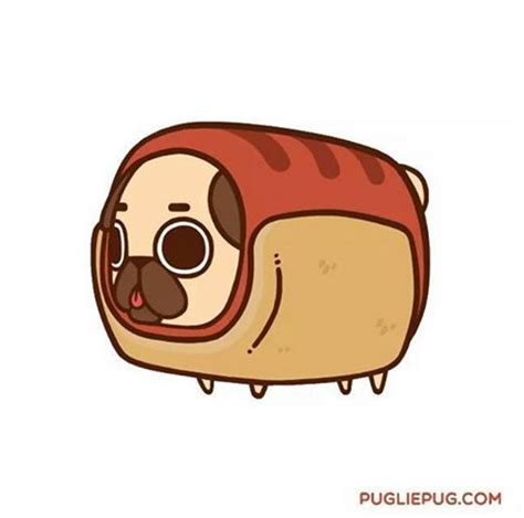 puglie pug an adorable pug illustrated as foods for some reason foodiggity