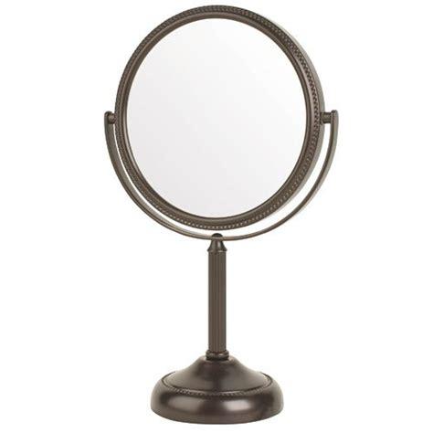 pedestal vanity mirror jerdon jp910bzp 6 quot pedestal vanity makeup mirror 10x