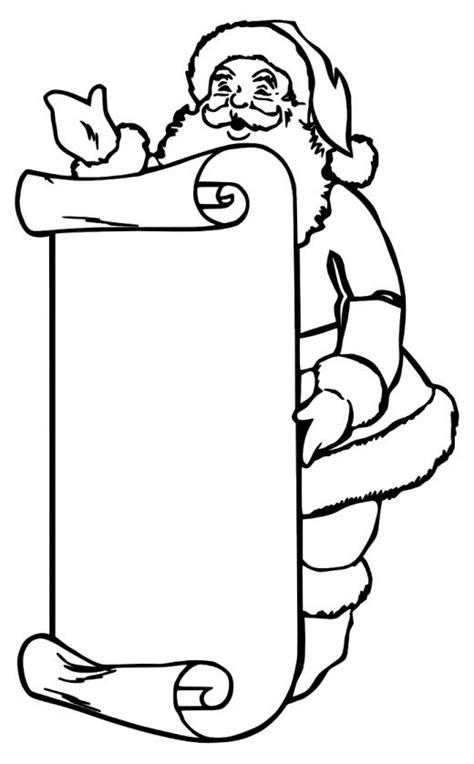Santa Coloring Pages Best Coloring Pages For Kids List Coloring Page